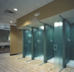 Funkyminds who showers at the gym for Gym bathroom ideas