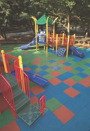 Bark Mulch Rubber And Engineered Wood Fiber Loose Fill Materials Offer A Lower Initial Cost Than Unitary Surfaces But Regular Maintenance Programs